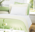 Greens luxury percale polycotton Bolster pillowcases