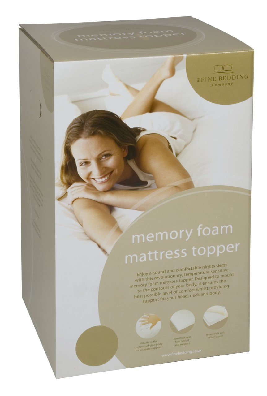 The Fine Bedding Company Memory Foam Mattress Toppers
