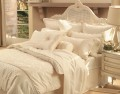Sheridan Damask Vanilla Duvet Cover, Bedskirts, Pillowcases, Cushion and Coverlet