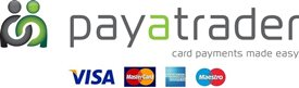 All payments secured by PayaTrader or PayPal. You can use your PayPal account or enter your card details on PayaTrader's secure website