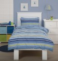 Just Kidding - Regency Stripe - By Linen House, Blue Striped Duvet Cover for boys