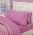 Just Kidding Pink Spotty Sheet Set By Linen House