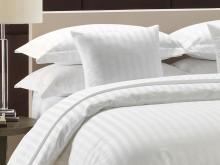 Greens Satin Stripe Polycotton Bolster Pillowcases